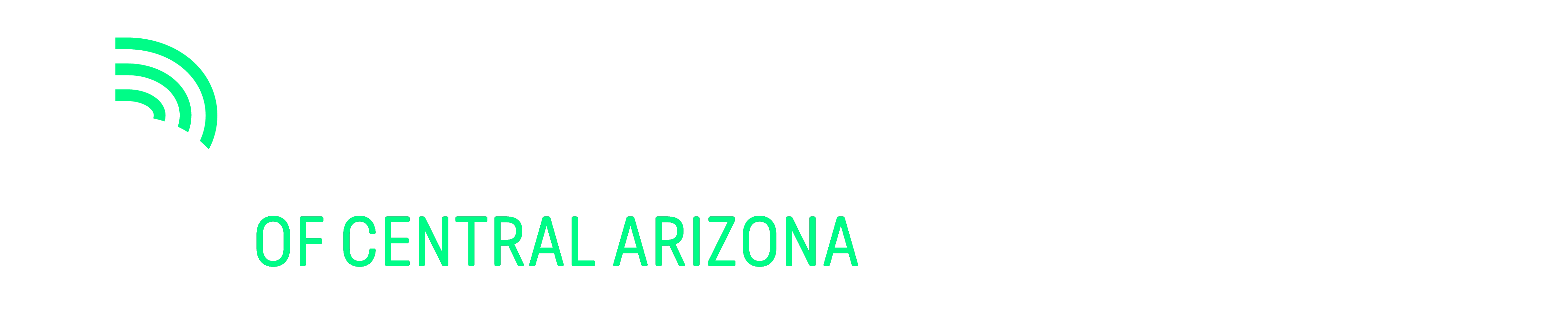Big Brothers Big Sisters of Central Arizona's White Horizontal Logo